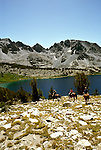 California: Mammoth Lakes, horsepacking, Duck Lake, model released, Photo: camamm103.Photo copyright Lee Foster, 510/549-2202, lee@fostertravel.com, www.fostertravel.com