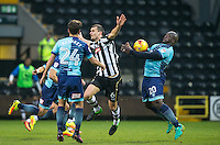 Adebayo Akinfenwa of Wycombe Wanderers controls the ball during the Sky Bet League 2 match between Notts County and Wycombe Wanderers at Meadow Lane, Nottingham, England on 10 December 2016. Photo by Andy Rowland.