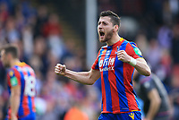 Joel Ward of Crystal Palace celebrates after the final whistle during Crystal Palace vs Brighton & Hove Albion, Premier League Football at Selhurst Park on 14th April 2018