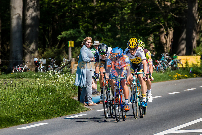Breakaway with TJALLINGII, Maarten from the Netherlands of Team Lotto NL - Jumbo (NED) at Warnsveld with 80 km to go, stage 3 from Nijmegen to Arnhem running 190 km of the 99th Giro d'Italia (UCI WorldTour), The Netherlands, 8 May 2016. Photo by Pim Nijland / PelotonPhotos.com | All photos usage must carry mandatory copyright credit (Peloton Photos | Pim Nijland)