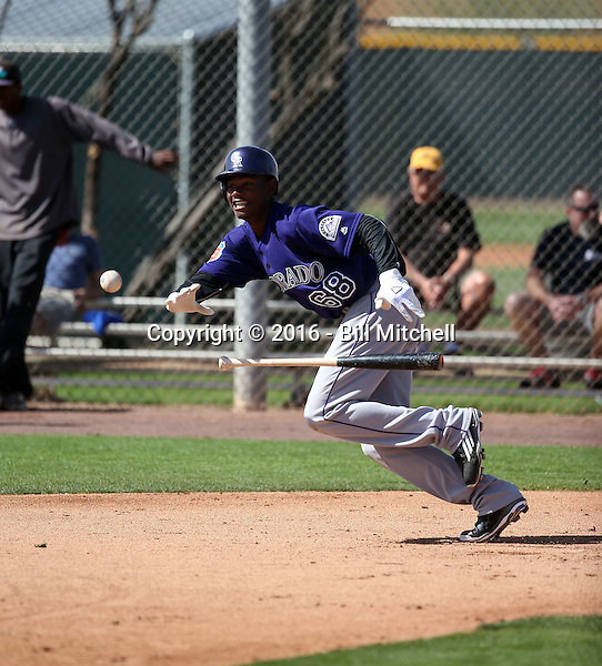 Raimel Tapia - Colorado Rockies 2016 spring training (Bill Mitchell)