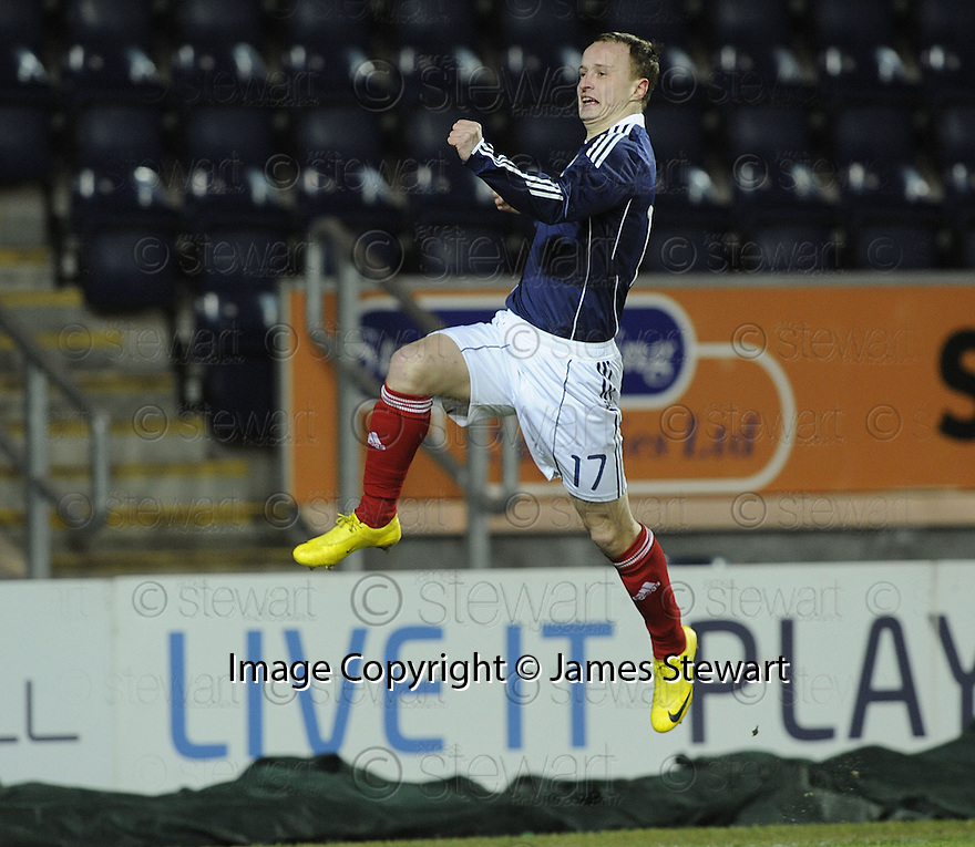 02/03/2010  Copyright  Pic : James Stewart.sct_jspa10_scotlandu21_v_azerbaijan  .::  LEIGH GRIFFITHS CELEBRATES AFTER HE SCORES SCOTLAND'S SECOND  :: .James Stewart Photography 19 Carronlea Drive, Falkirk. FK2 8DN      Vat Reg No. 607 6932 25.Telephone      : +44 (0)1324 570291 .Mobile              : +44 (0)7721 416997.E-mail  :  jim@jspa.co.uk.If you require further information then contact Jim Stewart on any of the numbers above.........