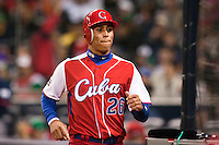 16 March 2009: #26 Leonys Martin of Cuba scores during the 2009 World Baseball Classic Pool 1 game 3 at Petco Park in San Diego, California, USA. Cuba wins 7-4 over Mexico.