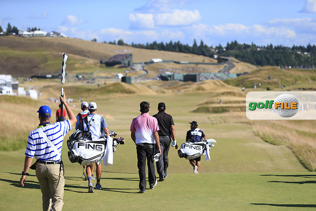 Bubba Watson (USA) walks off the 6th tee during Friday's Round 2 of the 2015 U.S. Open 115th National Championship held at Chambers Bay, Seattle, Washington, USA. 6/20/2015.<br /> Picture: Golffile | Eoin Clarke<br /> <br /> <br /> <br /> <br /> All photo usage must carry mandatory copyright credit (&copy; Golffile | Eoin Clarke)