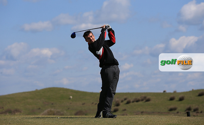 Ben Keen during Round Two of the West of England Championship 2016, at Royal North Devon Golf Club, Westward Ho!, Devon  23/04/2016. Picture: Golffile | David Lloyd<br /> <br /> All photos usage must carry mandatory copyright credit (&copy; Golffile | David Lloyd)