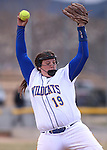 Wildcats' Nicole Lesniak pitches against College of Southern Idaho in Carson City, Nev., on Friday, Feb. 27, 2015. <br /> Photo by Cathleen Allison/Nevada Photo Source