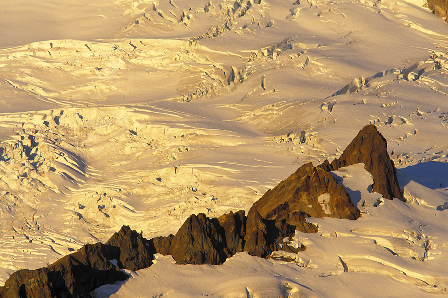 Lava Divide (rocky ridge) in Mt Baker's Park Glacier, North Cascades, Cascade Mountains, Washington