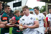 Nick Auterac and the rest of the Bath Rugby team leave the field after the match. Aviva Premiership match, between Leicester Tigers and Bath Rugby on September 3, 2017 at Welford Road in Leicester, England. Photo by: Patrick Khachfe / Onside Images