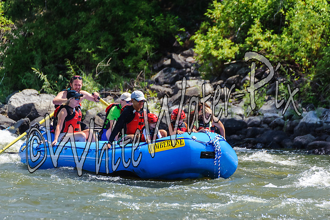 Timberline Tours crashing Cable Rapid while floating the Upper Colorado River from Rancho Del Rio to State Bridge on the morning of August 10, 2014.