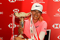 Michelle Wie (USA) winner of the HSBC Women's World Championship 2018 at Sentosa Golf Club on the Sunday 4th March 2018.<br /> Picture:  Thos Caffrey / www.golffile.ie<br /> <br /> All photo usage must carry mandatory copyright credit (&copy; Golffile | Thos Caffrey)