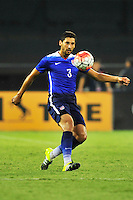 USA's Omar Gonzalez kicks the ball to a teammate. USA defeated Peru 2-1 during a Friendly Match at the RFK Stadium in Washington, D.C. on Friday, September 4, 2015.  Alan P. Santos/DC Sports BoxBethesda Spirti - Soccer Tournament in Ellicott, MD on August 29-30th.  www.alanpsantos.com