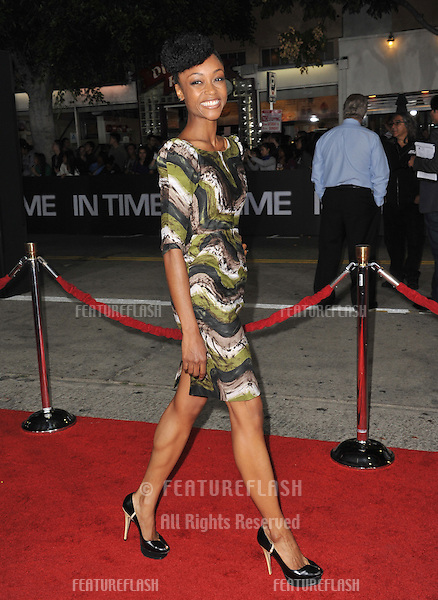 """Yaya DaCosta at the Los Angeles premiere of """"In Time"""" at the Regency Village Theatre, Westwood..October 20, 2011  Los Angeles, CA.Picture: Paul Smith / Featureflash"""