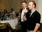 St Johnstone FC Players Awards Night...01.05.11  Lovatt Hotel Perth..Jody Morris and Colin McCredie.Picture by Graeme Hart..Copyright Perthshire Picture Agency.Tel: 01738 623350  Mobile: 07990 594431