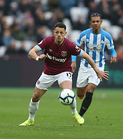 West Ham United's Javier Hernandez<br /> <br /> Photographer Rob Newell/CameraSport<br /> <br /> The Premier League - West Ham United v Huddersfield Town - Saturday 16th March 2019 - London Stadium - London<br /> <br /> World Copyright © 2019 CameraSport. All rights reserved. 43 Linden Ave. Countesthorpe. Leicester. England. LE8 5PG - Tel: +44 (0) 116 277 4147 - admin@camerasport.com - www.camerasport.com