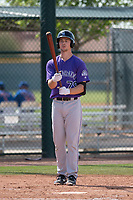 Colorado Rockies third baseman Todd Czinege (79) during a Minor League Spring Training game against the Chicago Cubs at Sloan Park on March 27, 2018 in Mesa, Arizona. (Zachary Lucy/Four Seam Images)