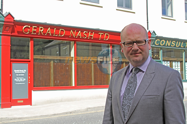 Ged Nash outside his new offices..Picture: Fran Caffrey/ www.newsfile.ie.