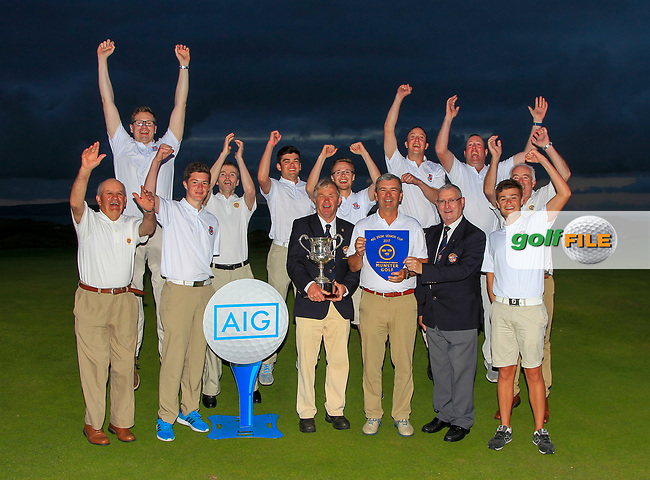 Limerick winners of the Munster Final of the AIG Senior Cup at Tralee Golf Club, Tralee, Co Kerry. 12/08/2017<br /> <br /> Picture: Golffile   Thos Caffrey<br /> <br /> All photo usage must carry mandatory copyright credit     (&copy; Golffile   Thos Caffrey)