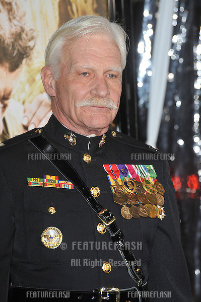 "Captain Dale Dye at the premiere of HBO miniseries ""The Pacific"" at Grauman's Chinese Theatre, Hollywood..February 24, 2010  Los Angeles, CA.Picture: Paul Smith / Featureflash"