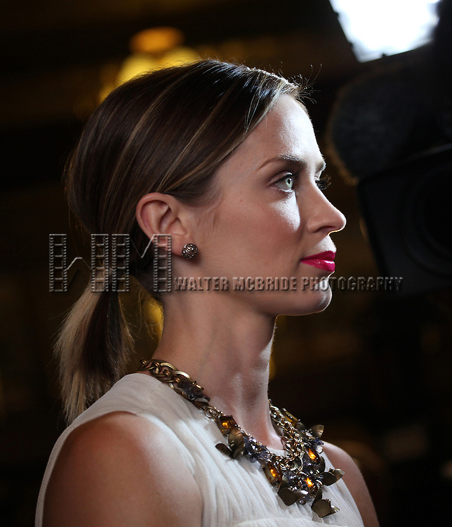 Emily Blunt attending the The 2012 Toronto International Film Festival.Red Carpet Arrivals for 'To The Wonder' at the Princess of Wales Theatre in Toronto on 9/10/2012 .