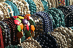 Hanks of multicolored beads make eye candy.