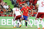 Spain's Lucas Vazquez and Georgia's Navalovskii during the up match between Spain and Georgia before the Uefa Euro 2016.  Jun 07,2016. (ALTERPHOTOS/Rodrigo Jimenez)