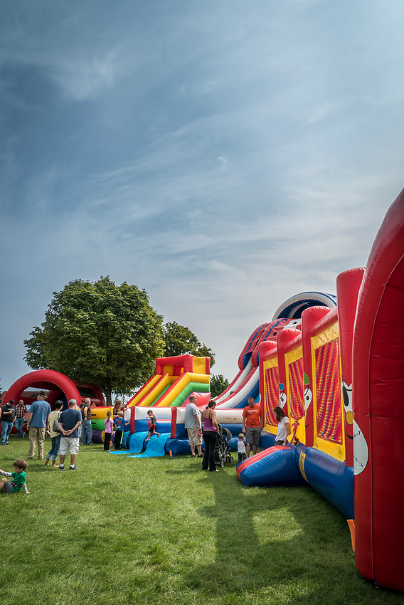 Bounce house for kids at Harbor Fest in downtown Marquette, Michigan.