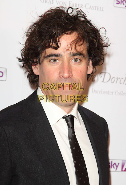 Stephen Mangan.South Bank Sky Arts Awards at the Dorchester Hotel, Park Lane, London, England..May 1st 2012.headshot portrait black white shirt tie suit.CAP/ROS.©Steve Ross/Capital Pictures