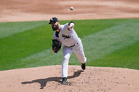 25th July 2020, Chicago, IL, USA;  Chicago White Sox starting pitcher Dallas Keuchel (60) throws a pitch in the first inning against the Minnesota Twins  at Guaranteed Rate Field on July 25, 2020 in Chicago, IL.