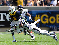 Chris Harper of California runs the ball during the game against Nevada at Memorial Stadium in Berkeley, California on September 1st, 2012.  Nevada Wolf Pack defeated California, 31-24.