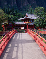 Byodo-In Temple, Valley fo the Temples Memorial Park, Kaneohe, Oahu, Hawaii, USA.
