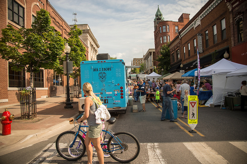 Blueberry Festival in downtown Marquette, Michigan.