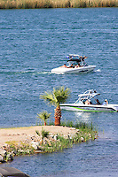 Boating fun on the Colorado River near Parker, Arizona.