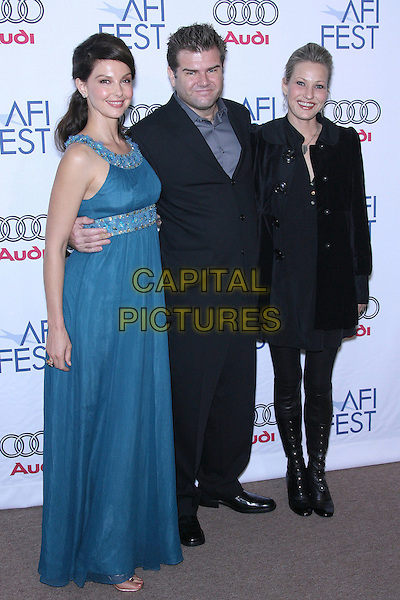"""ASHLEY JUDD, DAN ETHERIDGE & JOEY LAUREN ADAMS.AFI Fest 2006 by Audi Presents """"Come Early Morning"""" Los Angeles Screening - Arrivals held at the ArcLight, Hollywood, California, USA..November 9th, 2006.Ref: ADM/ZL.full length blue dress jewel encrusted trim black suit coat boots.www.capitalpictures.com.sales@capitalpictures.com.©Zach Lipp/AdMedia/Capital Pictures."""