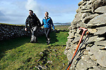 Hundreds of walkers donned their hiking boots and headed to the hills around Mount Brandon in West Kerry for the Dingle Walking Festival over the weekend. Our photograph shows Cara Buckley, Castlegregory and Mark Dalton, Limerick enjoying the walk around Ballyferriter, in West Kerry on Sunday..Picture by Don MacMonagle