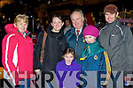 Ursula Lucey, Melissa Hurley Tralee, Sean Hurley Killarney Sinena Lucey, Jadyn and Kevin Lucey Tralee at the Christmas in Killarney parade on Friday night..