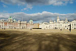 Sweeping view of Horse Guards Parade grounds, and the Old Admiralty, London, England