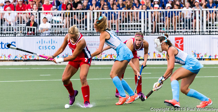 Argentina Women vs USA Women in Gold medal game at Pan Am Games 2015 in Toronto, Ontario, Canada