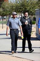 Farhan Zahidi (general manager, left), Alex Anthopoulos (advisor, right) - Los Angeles Dodgers 2016 spring training (Bill Mitchell)