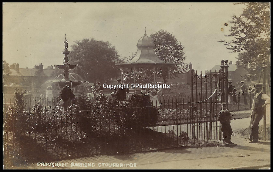 BNPS.co.uk (01202 558833)<br /> Pic: PaulRabbitts/BNPS<br /> <br /> ***Please Use Full Byline***<br /> <br /> The bandstand in Promenade Gardens, Stourbridge. Lost, date unknown.<br /> <br /> A landscape gardener is trumpeting the great British creation of the bandstand after touring the country's parks to study the iconic structures for a new book.<br /> <br /> Paul Rabbitts' work is a celebration of the Victorian platforms and a throwback to the halycon days of outdoor music when thousands of people would gather in public parks for a brass band performance.