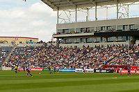 Bridgeview, IL - Saturday July 22, 2017: Toyota Park, Crowd during a regular season National Women's Soccer League (NWSL) match between the Chicago Red Stars and the Orlando Pride at Toyota Park. The Red Stars won 2-1.