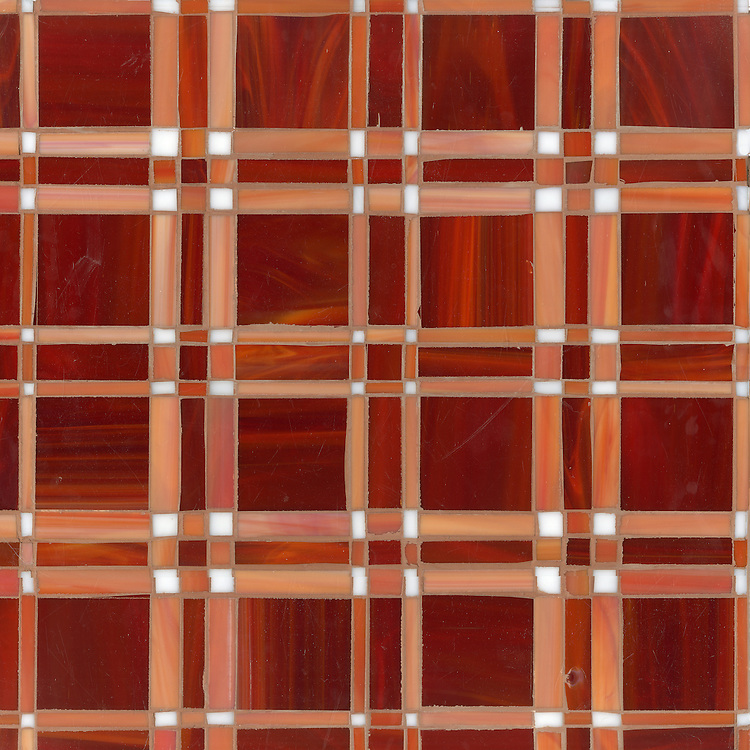 Rory, a jewel glass mosaic field shown in Ruby, Sardonyx and Moonstone.
