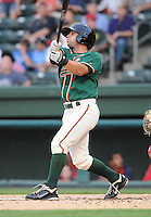 Infielder Joe Bonadonna (1) of the Greensboro Grasshoppers, Class A affiliate of the Florida Marlins, in a game against the Greenville Drive on April 26, 2011, at Fluor Field at the West End in Greenville, South Carolina. (Tom Priddy/Four Seam Images)