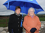 Anne Reid and Peggy McGrane pictured at the lighting of the pascal Fire on the hill of Slane. Photo: Colin Bell/pressphotos.ie