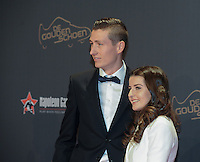 20170208 – LINT ,  BELGIUM : Hans Vanaken (L) pictured during the  63nd men edition of the Golden Shoe award ceremony and 1st Women's edition, Wednesday 8 February 2017, in Lint AED studio. The Golden Shoe (Gouden Schoen / Soulier d'Or) is an award for the best soccer player of the Belgian Jupiler Pro League championship during the year 2016. The female edition is a first in Belgium.  PHOTO DIRK VUYLSTEKE   Sportpix.be