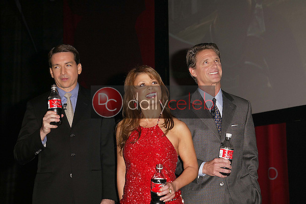 Javier Benito, Paula Abdul and Don Knauss