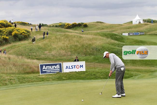 Nicolas Colsaerts (BEL) on Day 4 of the Alstom Open de France at Golf National,  Saint-Quentin-En-Yvelines, Paris, France, 8/7/12...(Photo Jenny Matthews/www.golffile.ie)