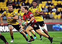 Mitchell Hunt in action during the Super Rugby match between the Hurricanes and Crusaders at Westpac Stadium in Wellington, New Zealand on Saturday, 10 March 2018. Photo: Dave Lintott / lintottphoto.co.nz