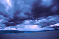 Storm over the west coast of Scotland