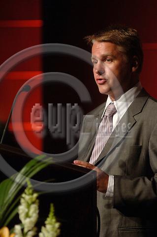"GENEVA - SWITZERLAND 11. 10. 2006 -- The World of Health IT. Thought Leader: Glenn.Kenneth Bruun, Oslo Rikshospitalet, ""A Clinical.Portal is Born."" -- PHOTO: GORM K. GAARE / EUP- IMAGES ..."