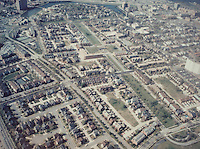 1990 ..Redevelopment.E Ghent South (A-1-1).E Ghent North (A-1-2)..Aerial view looking South.Ghent Square...NEG#.NRHA#..